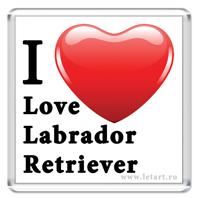 Магнит. Лабрадор ретривер. I Love Labrador retriever