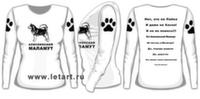 Футболка с длинными рукавами. Аляскинский маламут. Ответы любопытным