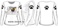 Футболка с длинными рукавами. Аляскинский маламут. Маламуто схема