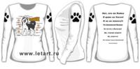 Футболка с длинными рукавами. Аляскинский маламут. Маламуто схема + Ответы любопытным