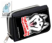 Сибирский Хаски Кошелек Собачке на вкусняшки (черный фон)