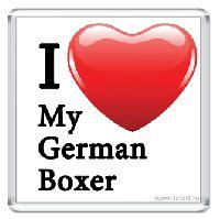 I Love my German Boxer