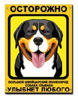 Большой швейцарский зенненхунд Собака Улыбака